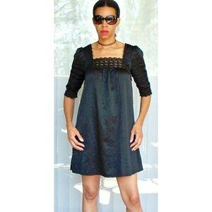 VERTIGO Paris embroidered babydoll shift dress